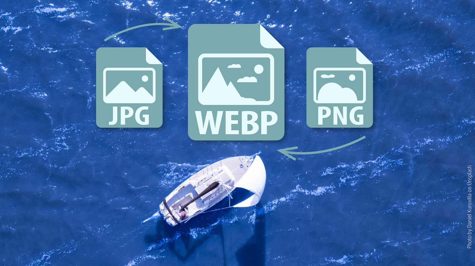 Comparison jpg png and webp image formats